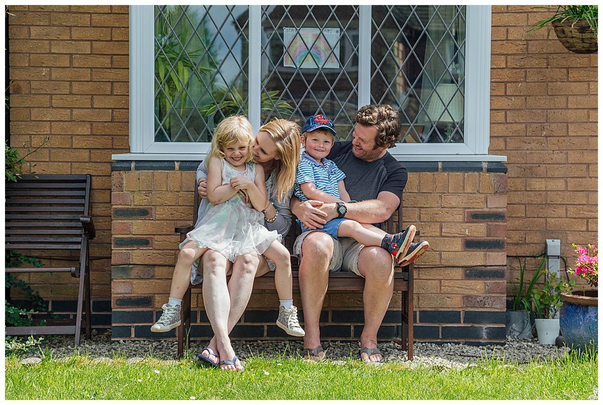 family doorstep portrait