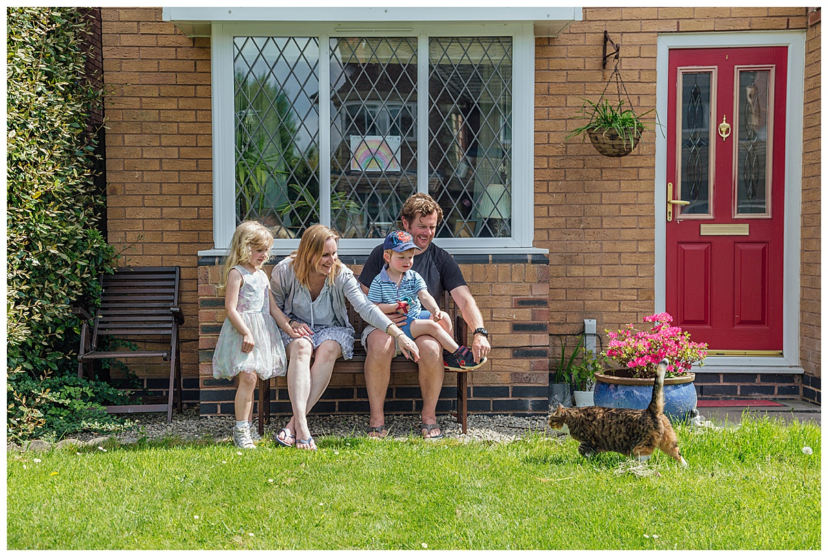 Summer doorstep portrait