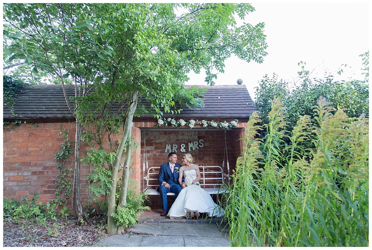 couple on the swing Bordesley Park Farm